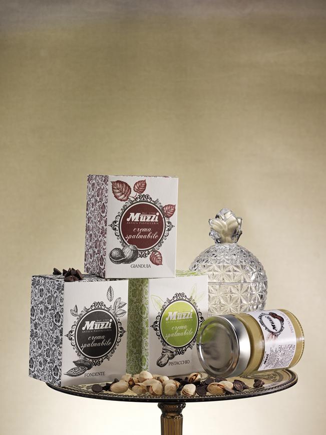 Crema spalmabile gianduia fondente e pistacchio muzzi Natale