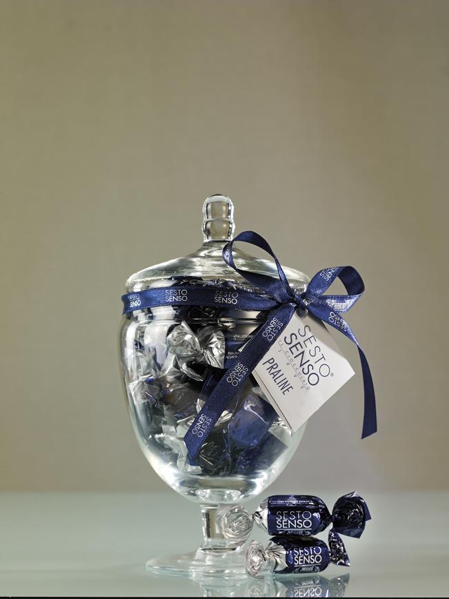 Sesto senso in vaso di vetro prline muzzi natale