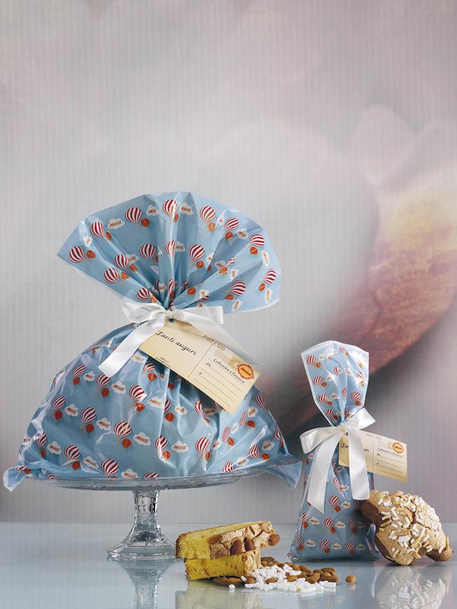 Colomba classica in sacchetto linea mongolfiere muzzi