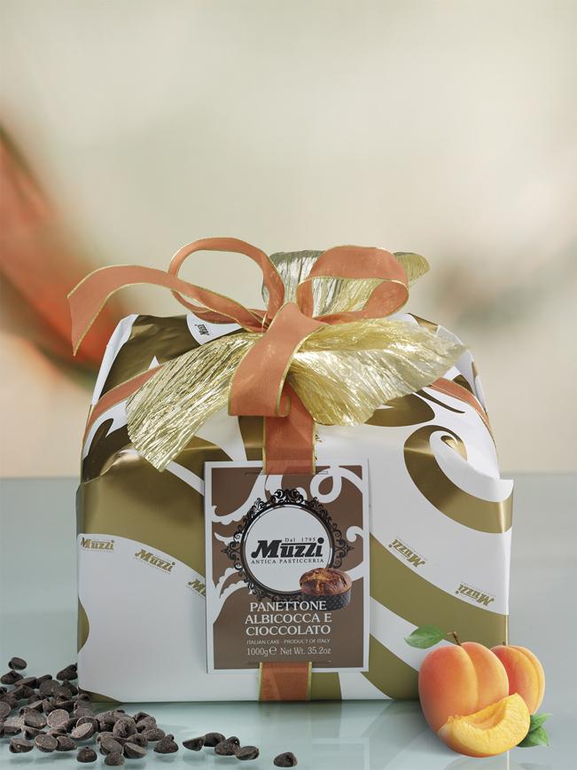 Panettone albicocca e cioccolato Muzzi linea gran classica