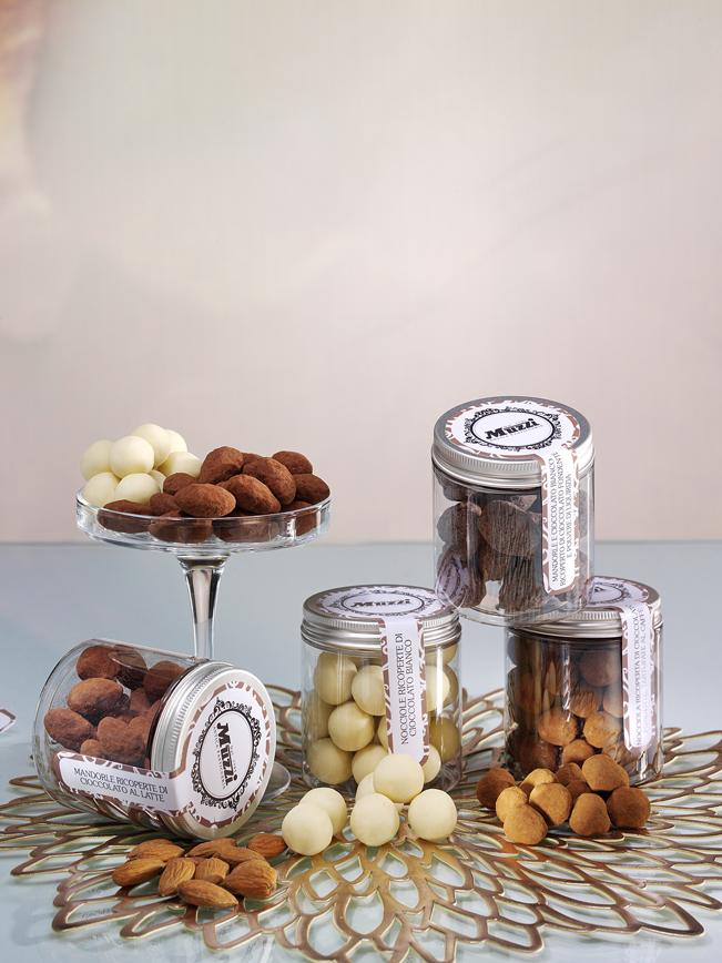 Dragées cioccolato in espositore Muzzi