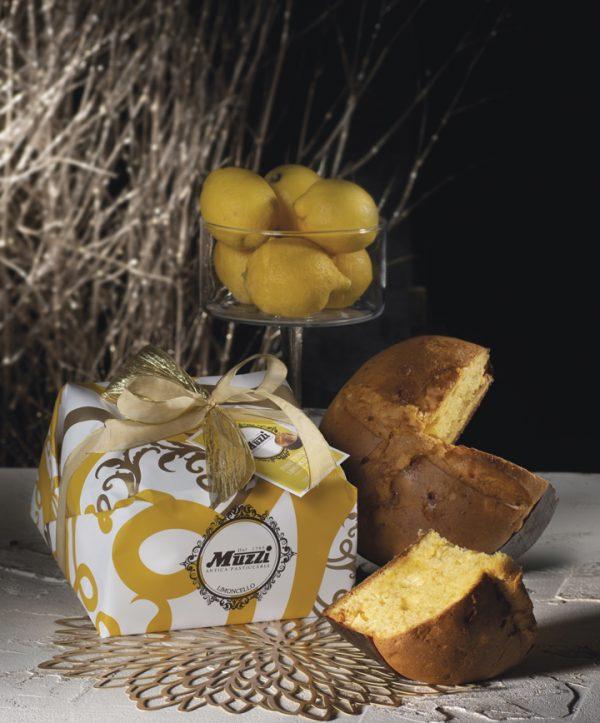 Panettone crema limoncello incartato Muzzi Gran Classica