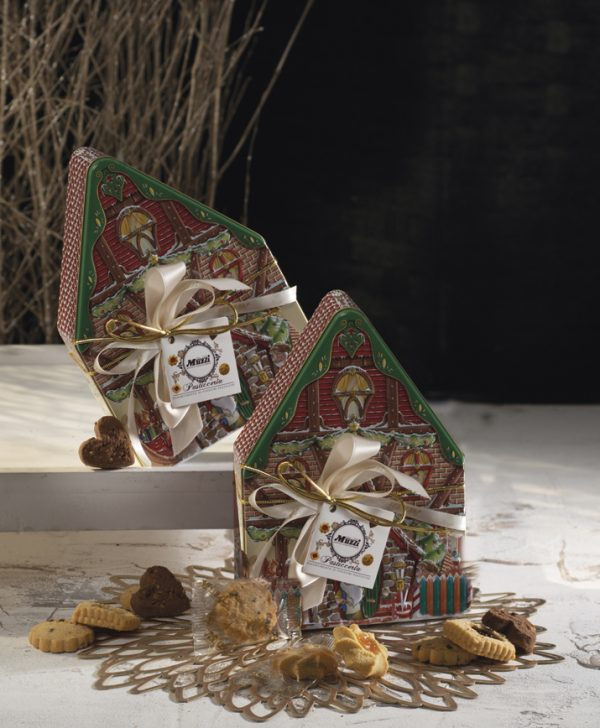 Pasticceria assortita latta casetta Muzzi